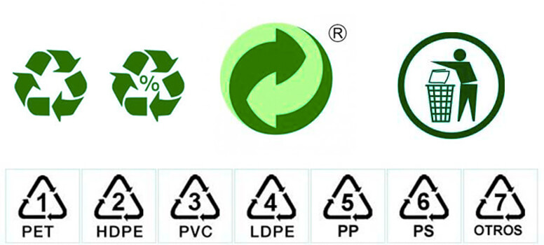 Simbolos en las bolsas de plastico