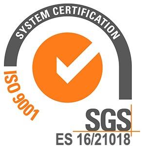 Certificado de calidad IOS9001 COLEBOLSA