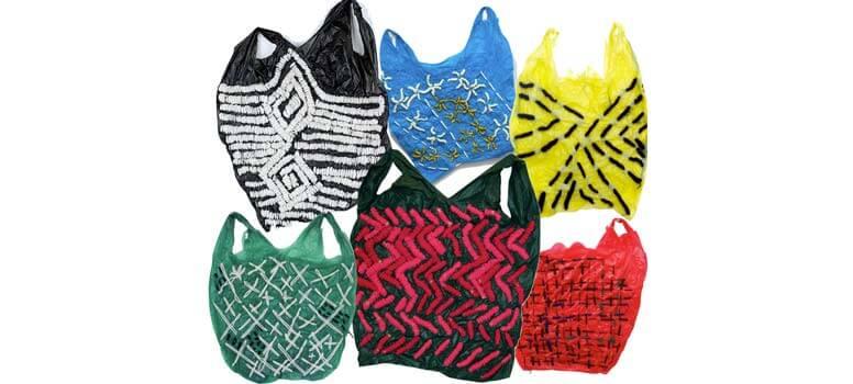 Bolsas de plástico reutilizadas