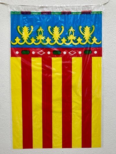 Banderas de Valencia de plástico