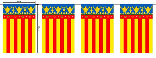 Banderas de plástico Valencia para Fallas