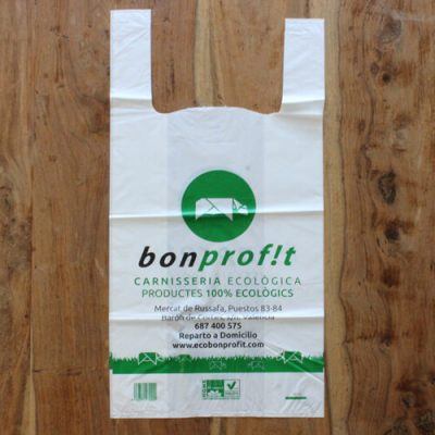 Bolsas compostables biodegradables personalizadas
