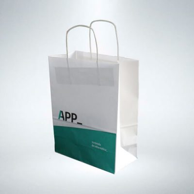 Bolsa de papel tienda app informática