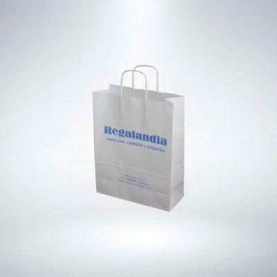 Bolsas de papel asa rizada
