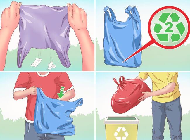 Reciclado de bolsas plásticas